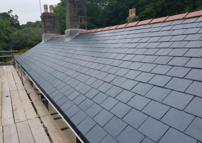 Re roofing the old drovers in Bangor
