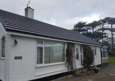 Re roofing on no 1 Breeze hill road, Benllech, Anglesey